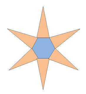 gambar jaring limas segi enam