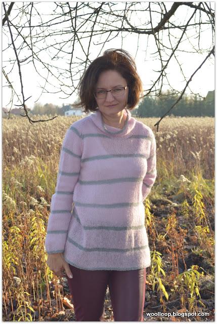 Sweter z włóczki Alpaca Brushed Silk i Lace