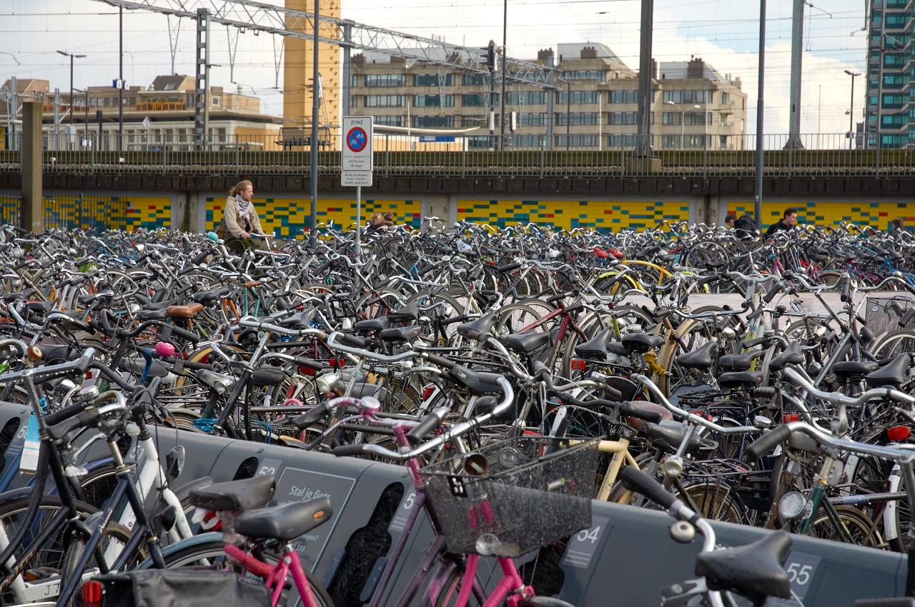 rowery w Holandii parkingi