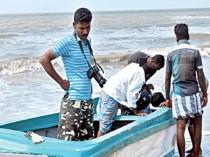 Sri Lankan fishing boat washed ashore near Dhanushkodi