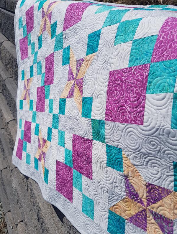 Island Batik baby quilt | DevotedQuilter.com