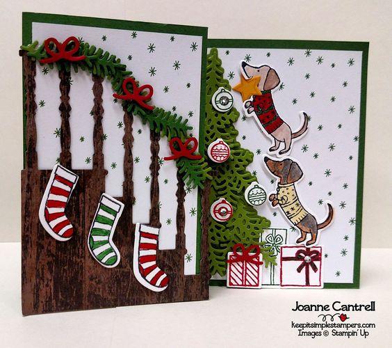 Carte de Noël Stampin' Up créé avec le jeu Prêts pour Noël