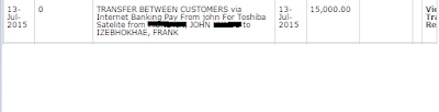 my payment proof to Izebhokhae Frank
