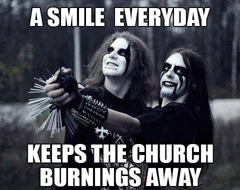 Black Metal burning church away