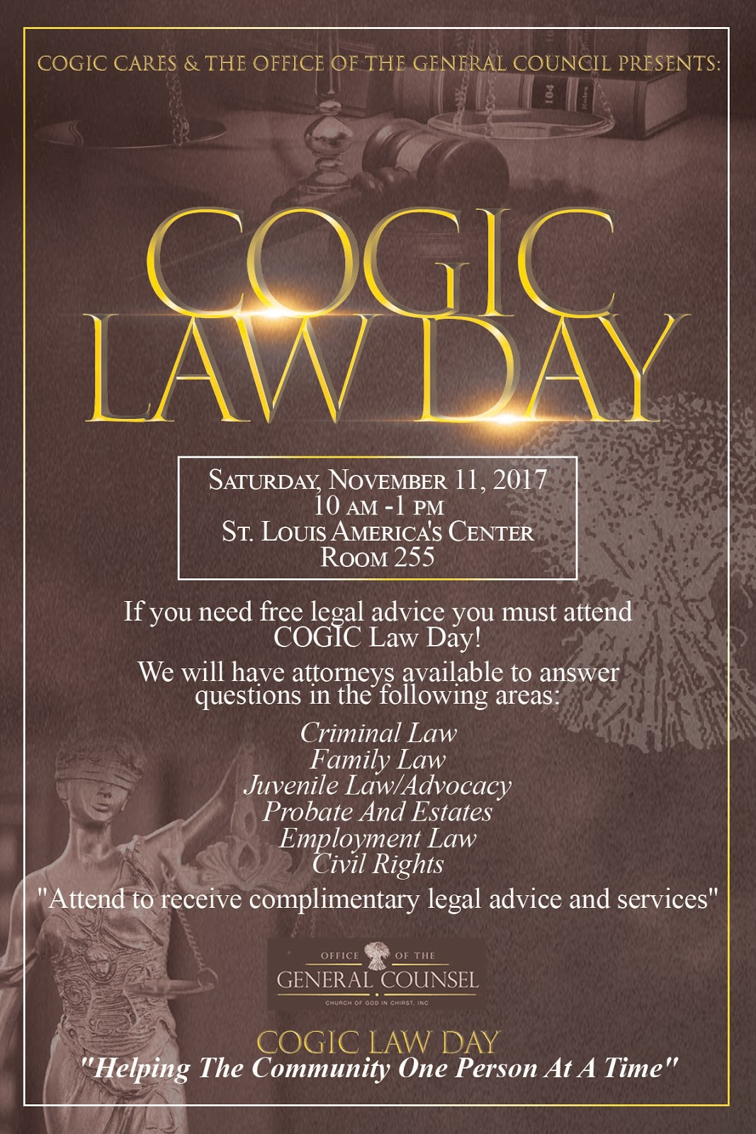The Dunamis Word: Questions On Sexual Abuse? COGIC Law Day At The