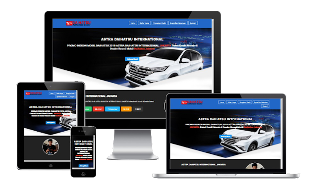 Template Landing Page Sales Mobil