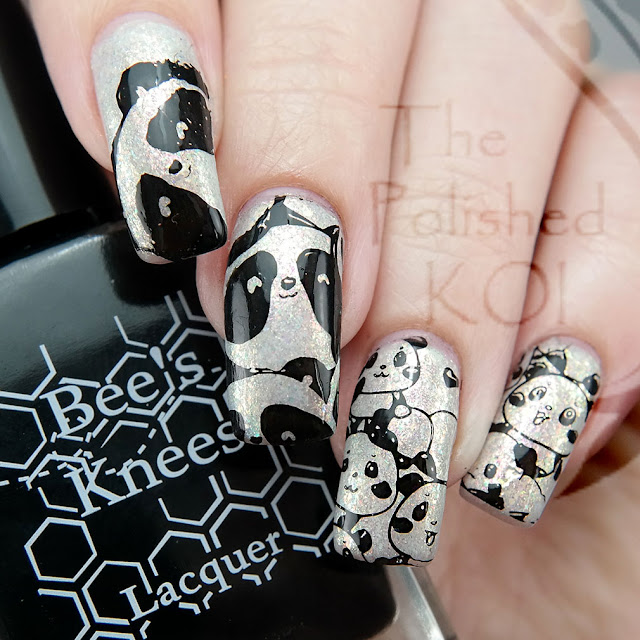 Nicole Diary - Animal World ND-002; Panda nail art