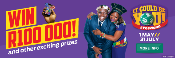 Hollywoodbets' #YesWena Promotion Image With Link To Promotion Page