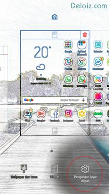 Pengaturan layar depan android