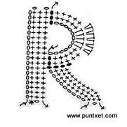 Patrón de letra R de ganchillo