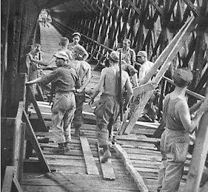 Perbaikan Jembatan Cirahong Jaman Belanda