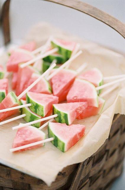 Dulces de verano con fruta