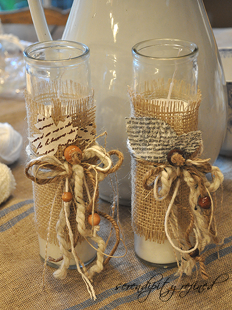 Twc decorating with burlap Burlap bag decorating ideas