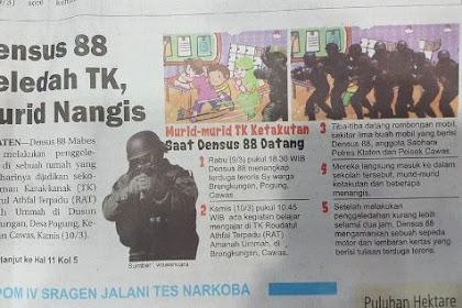 Saat Geledah TK, Densus 88 Todongkan Senjata kepada Anak-anak