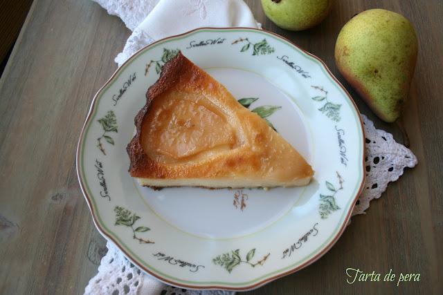 tarta fácil de pera