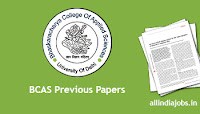 BCAS DASO Previous Papers