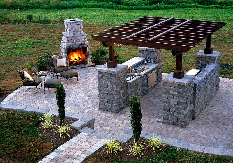 outdoor summer kitchen fresh modern design %25281%2529