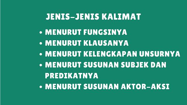 Jenis-Jenis Kalimat