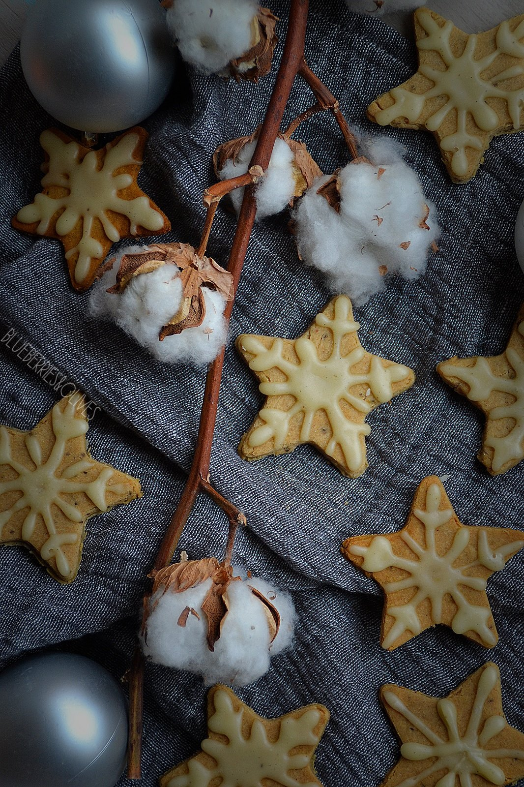 CHRISTMAS GINGER COOKIES with VANILLA ICING