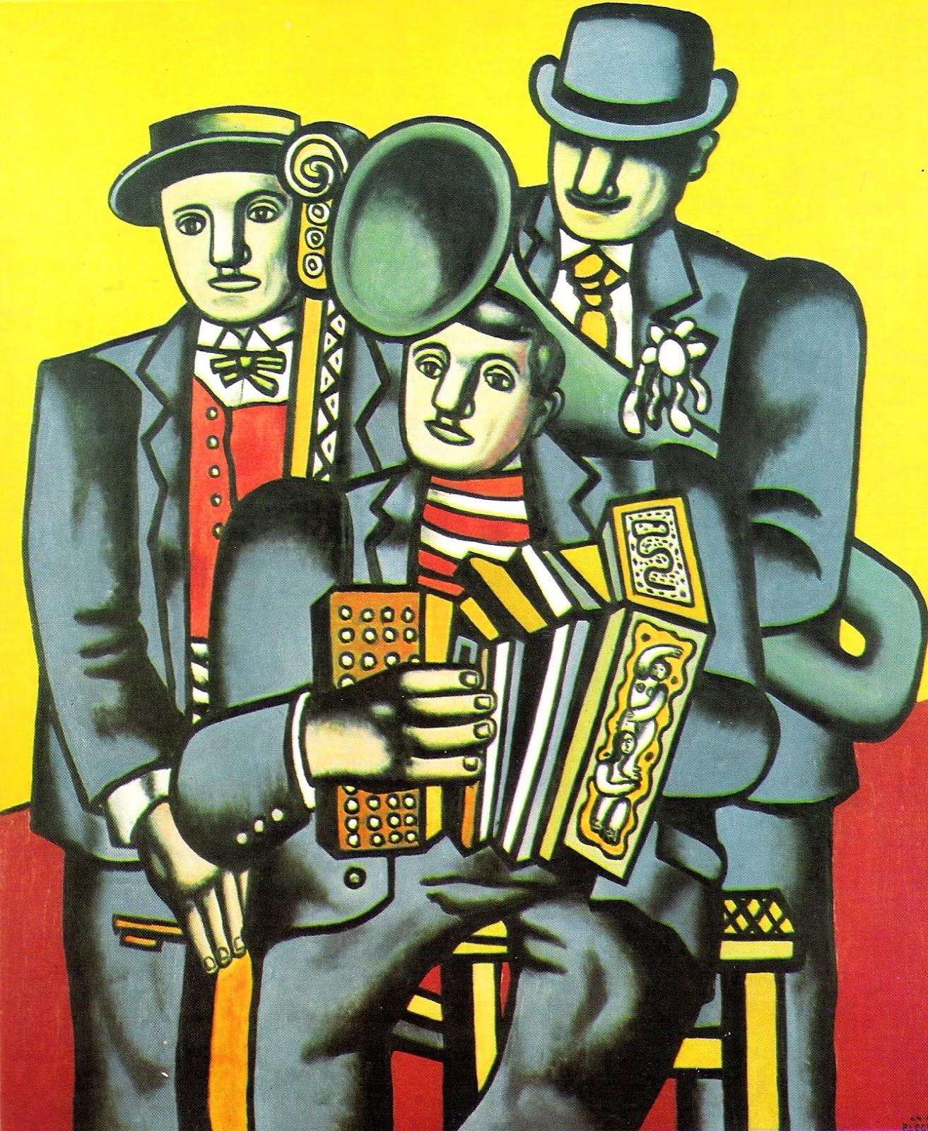 Cuadros Modernos Pinturas Y Dibujos Los Tres Musicos