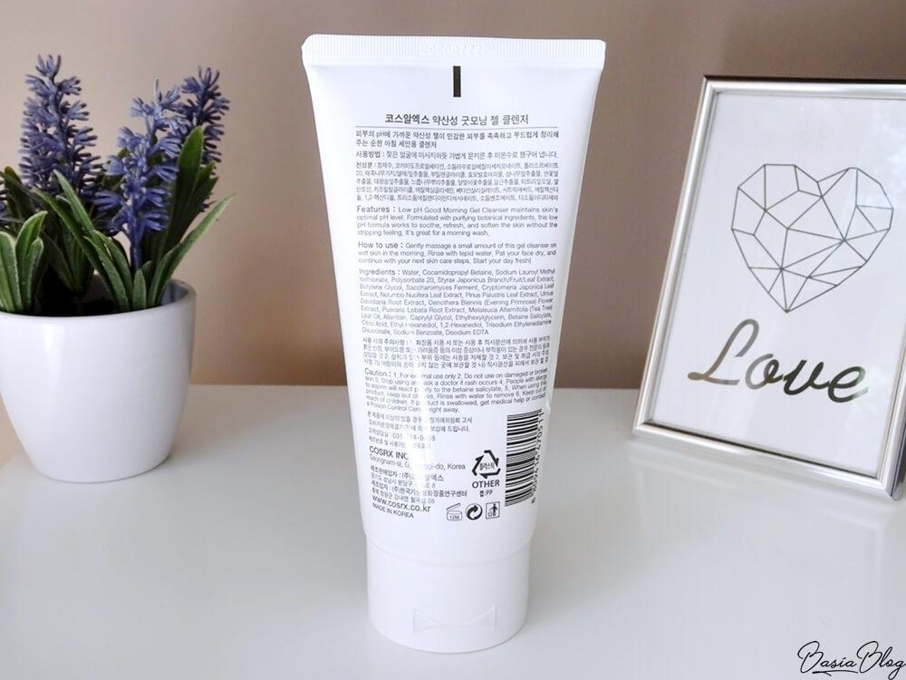 COSRH Low pH Good Morning Gel Cleanser, żel do mycia twarzy, mycie skóry trądzikowej
