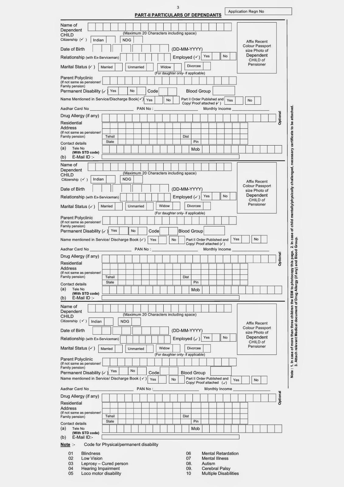 Aadhar Card Application Form Pdf
