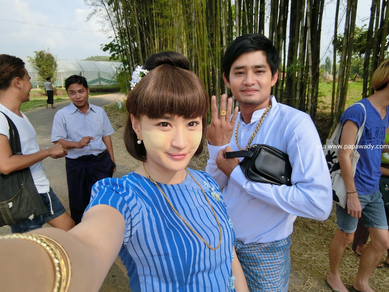 Wut Mhone Shwe Yi Behind The Scenes Photos In Pyin Oo Lwin