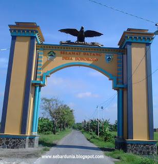 Gapura Desa Donorojo Kecamatan Demak