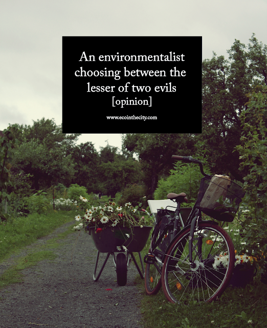 Opinion - an environmentalist choosing between the lesser of two evils