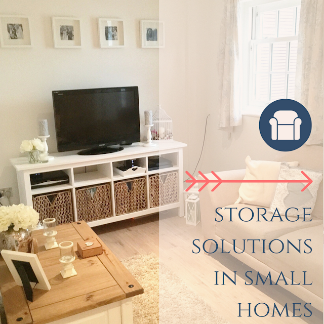 Storage solutions, tips and advice for small houses, living spaces, flats, apartments and homes from dovecottageblog.com