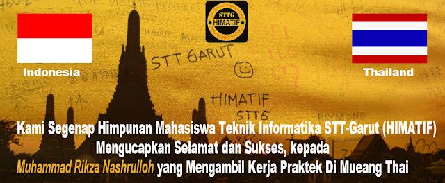 Ketua HIMATIF periode 2011-2012 Kerja Praktek di Thailand