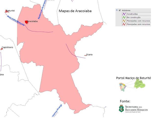 Mapas de Aracoiaba - adutoras