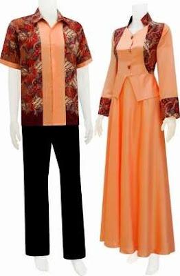 baju batik pasangan wanita dan pria