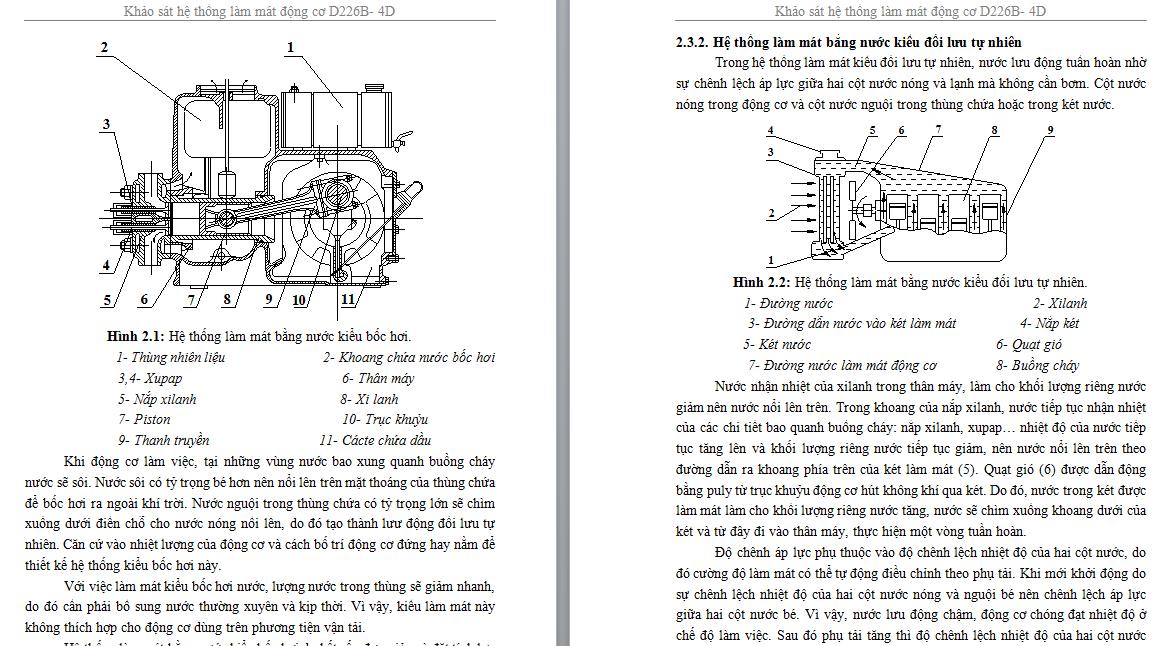 đồ án Khảo sát hệ thống làm mát động cơ D226B-4D