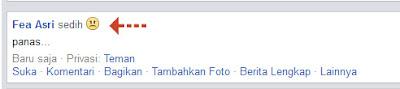 Perasaan atau Aktivitas di Status Facebook