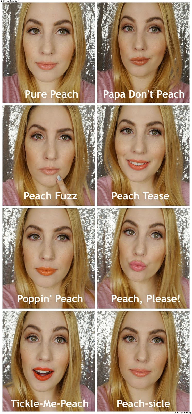 Too Faced Sweet Peach Creamy Peach Oil Lip Gloss review swatches