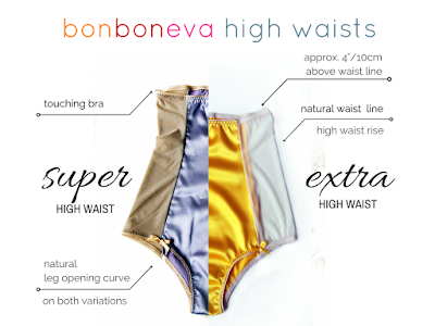 bonboneva handmade lingerie high waist rise options visuals