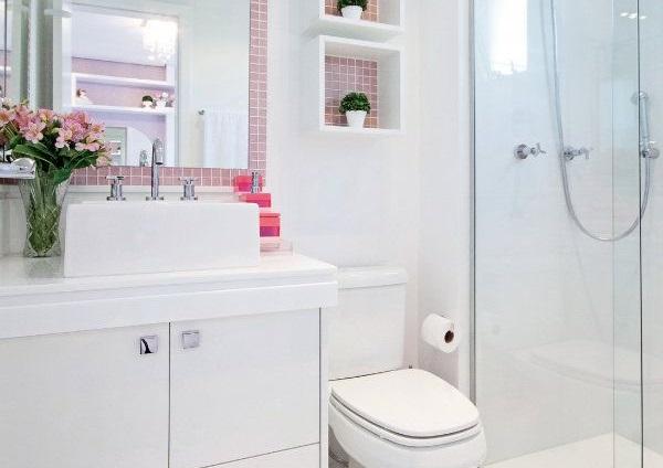 Decoração  5 Dicas Para Banheiros Pequenos  Taty Campos -> Decoracao De Banheiro Pq