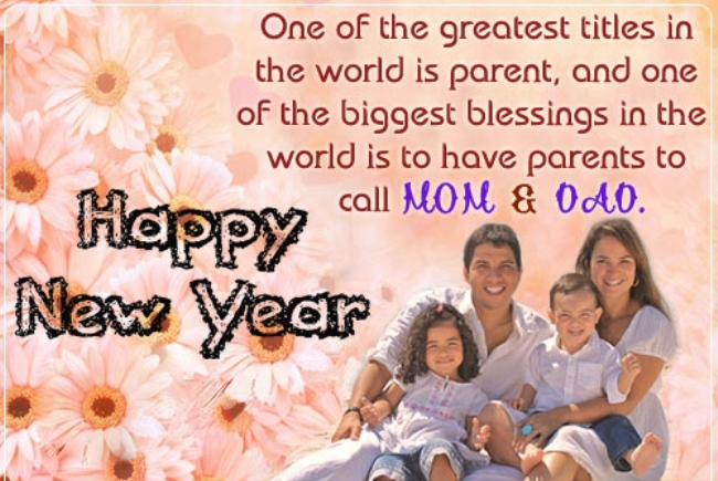 Happy New year SMS Messages for parents