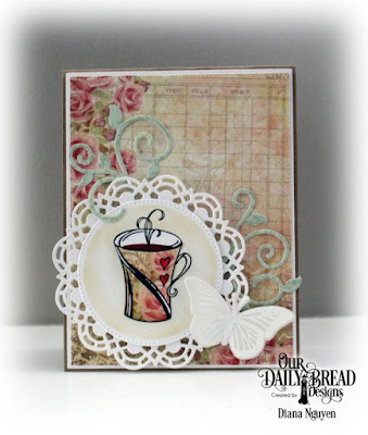 Our Daily Bread Designs, My Soul Thirsts, Doily, Blushing Rose PaperCollection, Fancy Foliage, Trois Jolies Papillons, Pierced Rectangle Dies