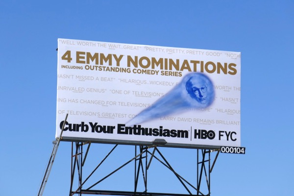 Curb Your Enthusiasm 2018 Emmy nominee billboard