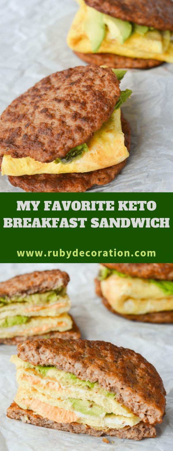 MY FAVORITE KETO BREAKFAST SANDWICH