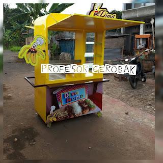 model gerobak pisang nugget