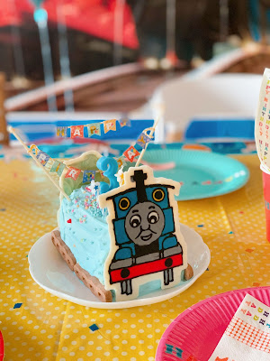 Thomas the Tank Engine Swiss Roll Birthday Cake (Recipe)