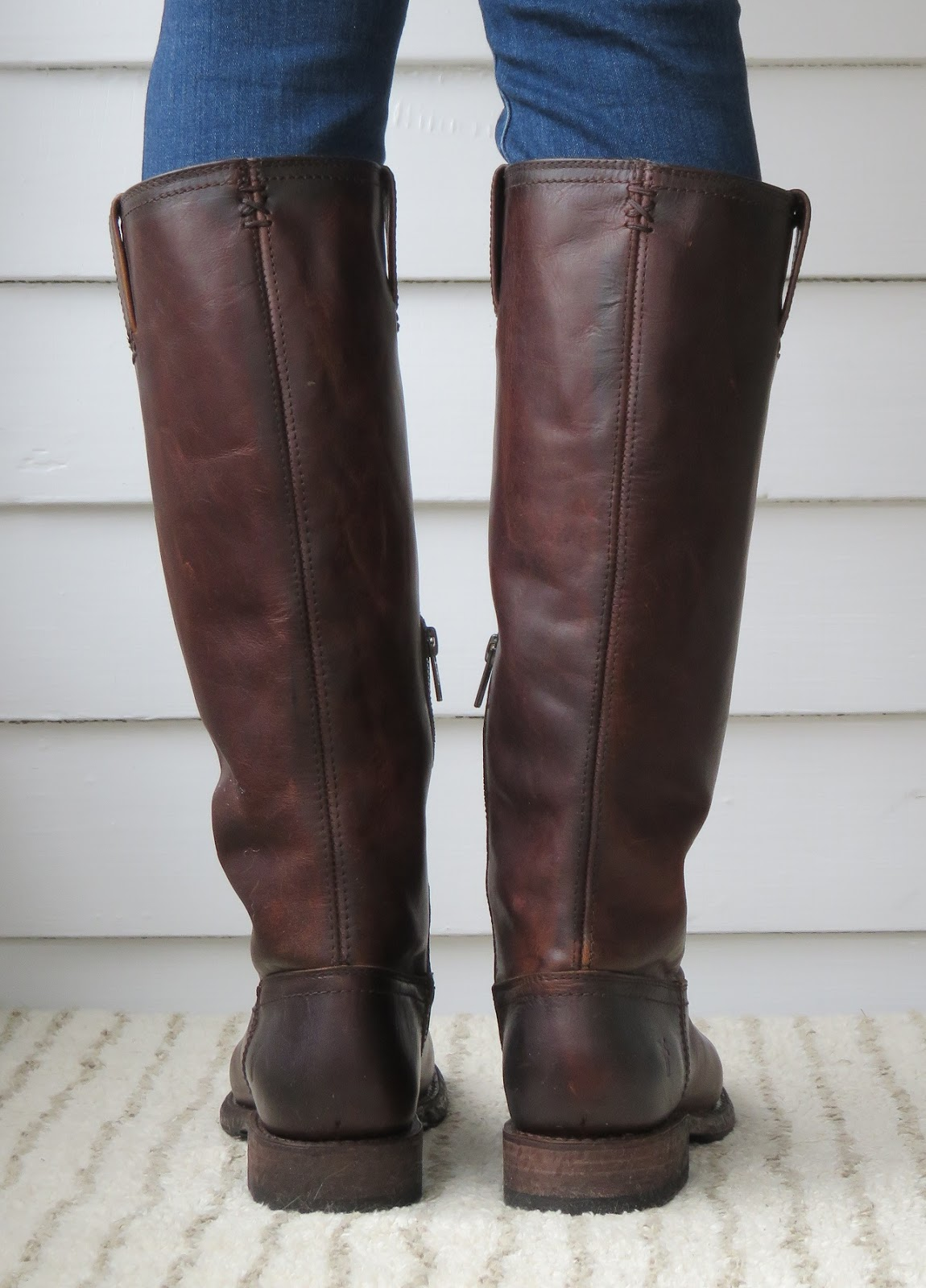 Howdy Slim! Riding Boots for Thin Calves: Frye Jenna Inside Zip