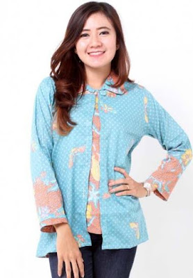 model baju batik wanita lengan panjang