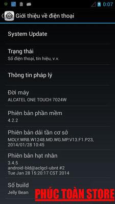 Tiếng Việt Alcatel 7024w alt