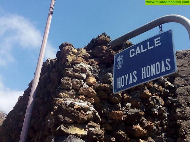 Comienzo de las obras de mejora del acceso a la calle Hoyas Hondas en El Paso