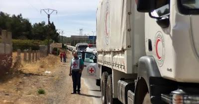 truk bantuan kemanusiaan pbb di suriah