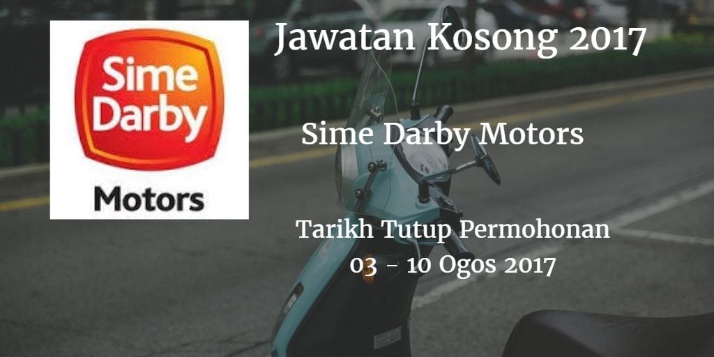 Jawatan Kosong Sime Darby Motors 03 - 10 Ogos 2017